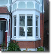 White UPVC Windows - Bay Window