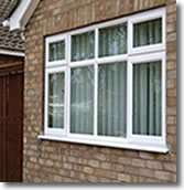 White UPVC Windows - Straight